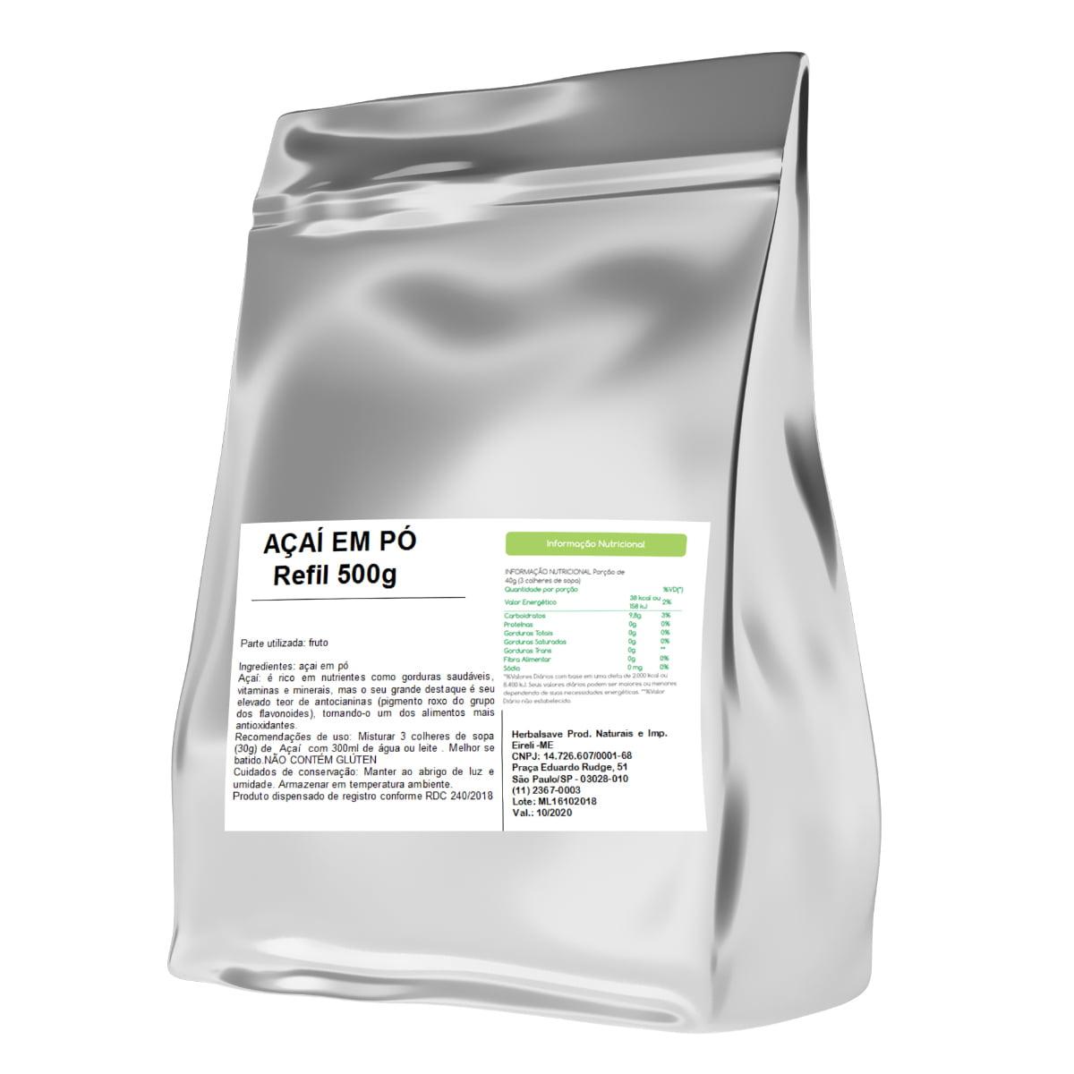 Açai em Pó 500g 500 gramas Po Mais Nutrition