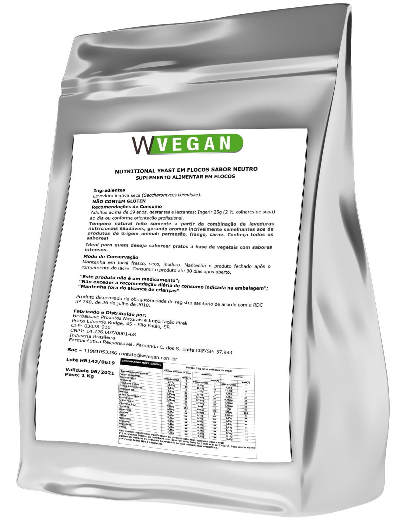 Nutritional Yeast 1Kg Neutro - Temos a maior Linha de Suplementos do Brasil a um excelente custo beneficio