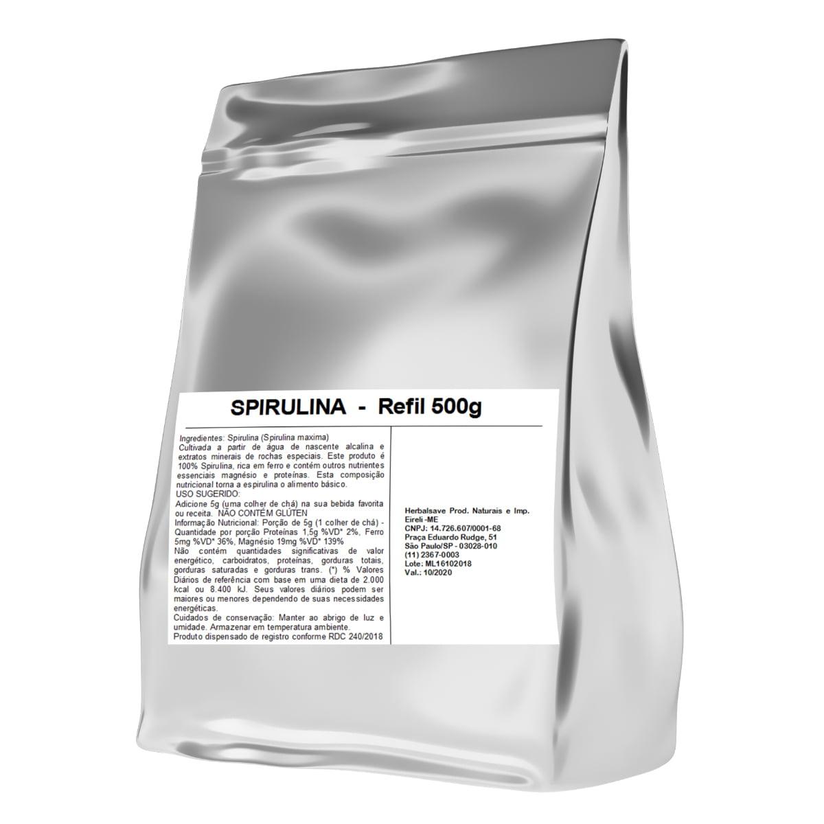 Spirulina Po 500 gramas 500g Mais Nutrition
