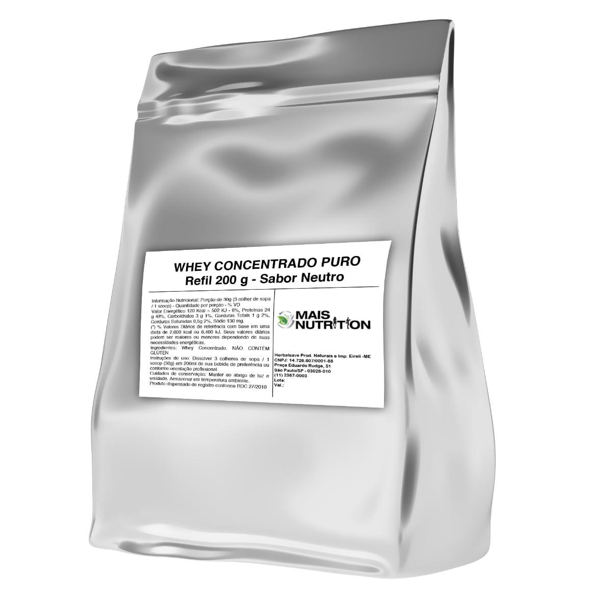 Whey Protein Concentrado 200g