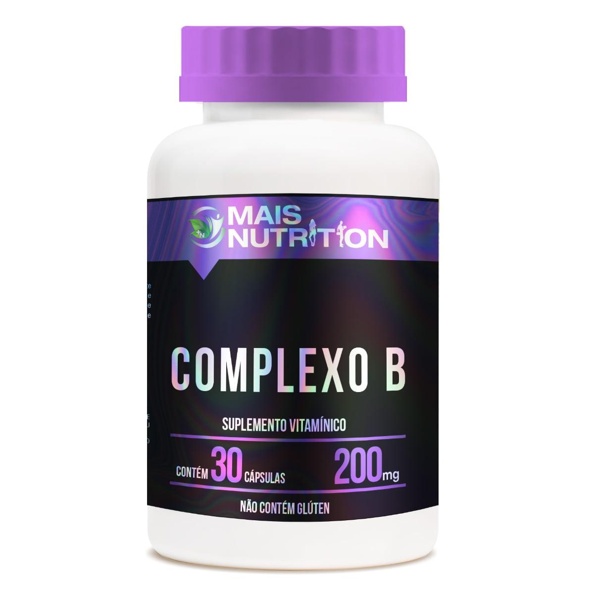 Complexo B 200mg 30 capsulas Mais Nutrition