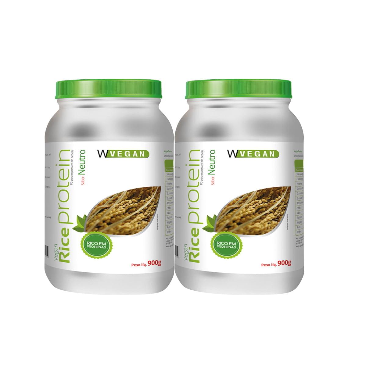 POR APENAS R$199,90 - 2 Rice Protein 900g Sem sabor Neutro WVegan