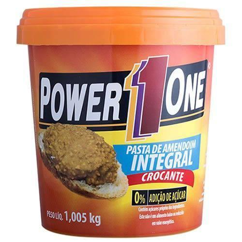 VALIDADE 01/08/2019 - Power One Pasta de Amendoim Crocante1,05Kg