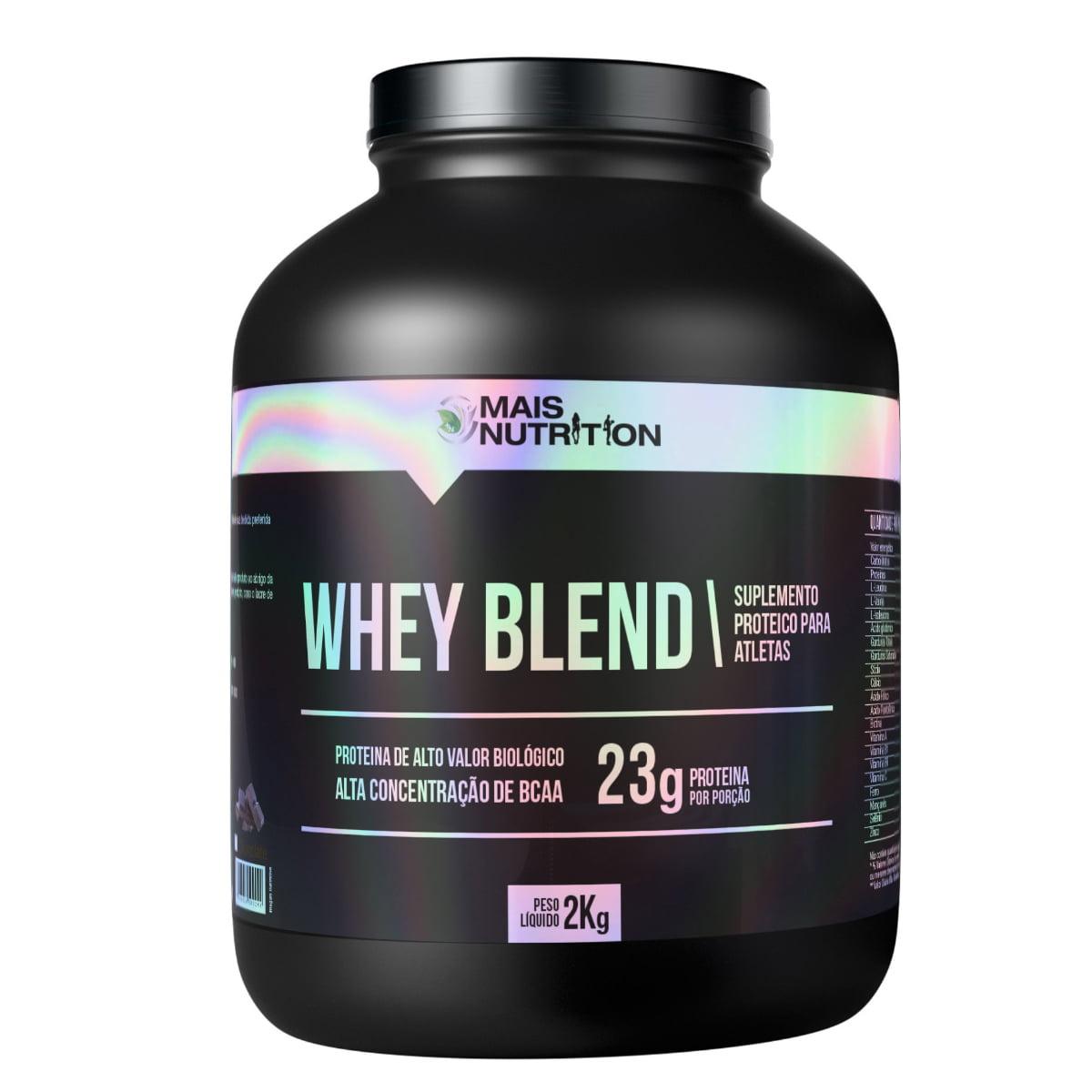 Whey Blend 2kg – Sabores Baunilha, Chocolate e Morango