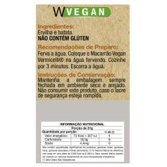 Macarrão Vegan Vermicelli 84g WVegan
