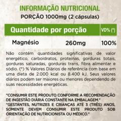Cloreto de Magnesio 500mg PA 60 capsulas WVegan