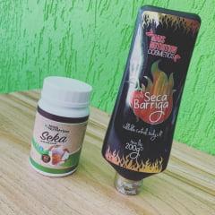 Combo Emagrecedor - 1 Seka Barriga 60 capsulas + 1 Creme Gel Seca Barriga Termogenico