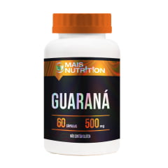 Guarana 500mg 60 capsulas - Mais Nutrition