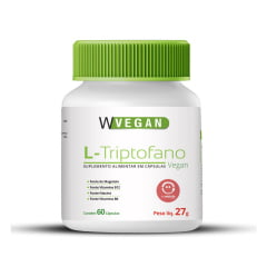 L - Triptofano com Vitamina B6 , B12 e Magnesio 500mg 60 capsulas WVegan