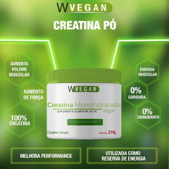 Creatina Vegan 210g Sem Sabor Wvegan