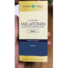 Bi-Layered Melatonin Melatonina 5 mg 60 tabletes – Vitamin World