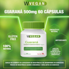 Guarana 500mg 60 capsulas WVegan