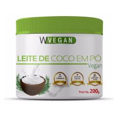 Leite de Coco em pó puro 200 gramas 200g WVegan