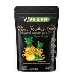 Rice Protein Premium 900g com DHA Embalagem Pouch WVegan Sabores
