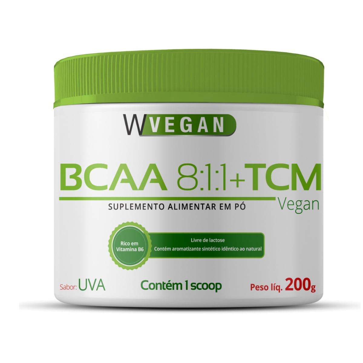 BCAA 8:1:1 + TCM 200g 200 gramas sabor Uva WVegan