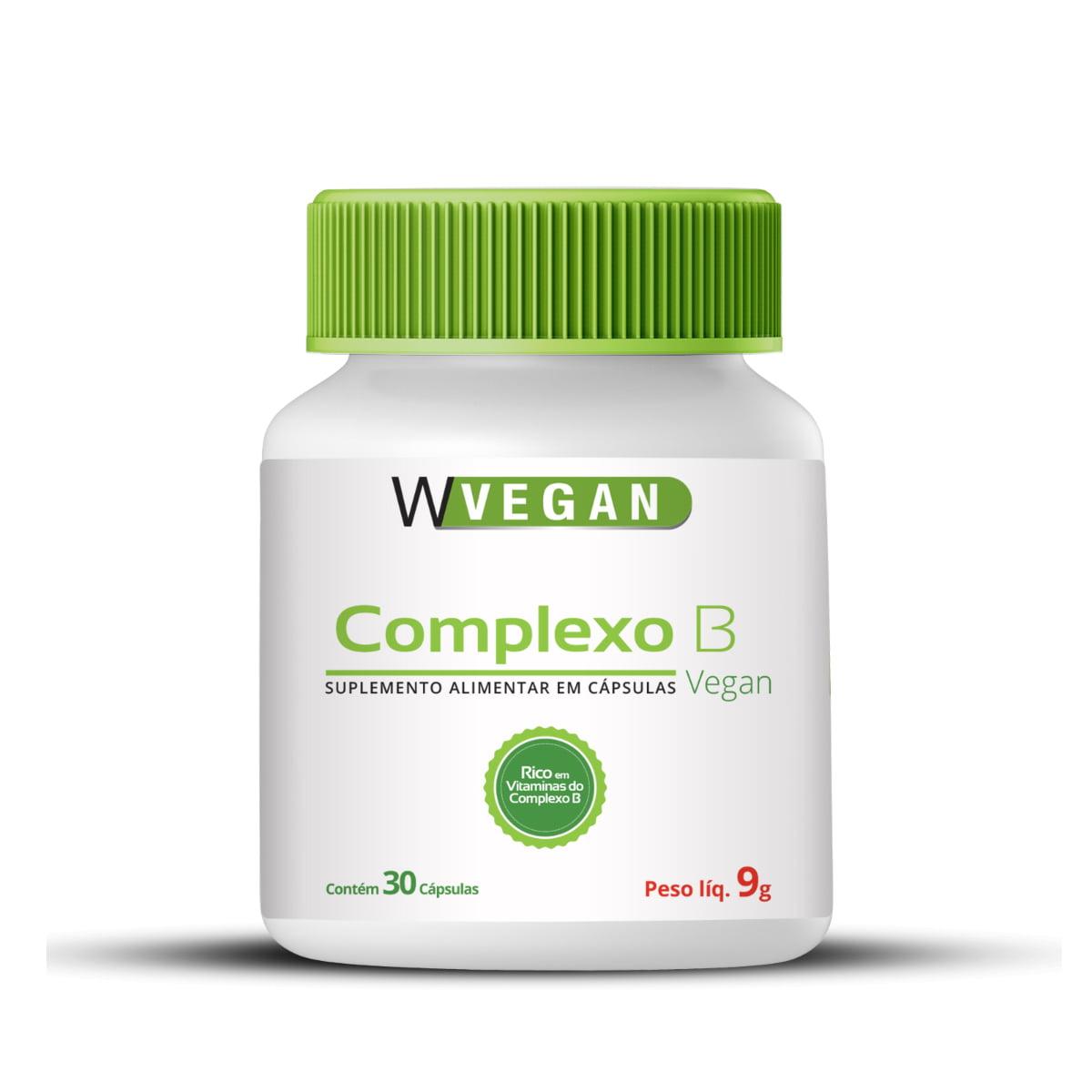 Complexo B 200mg 30 capsulas WVegan