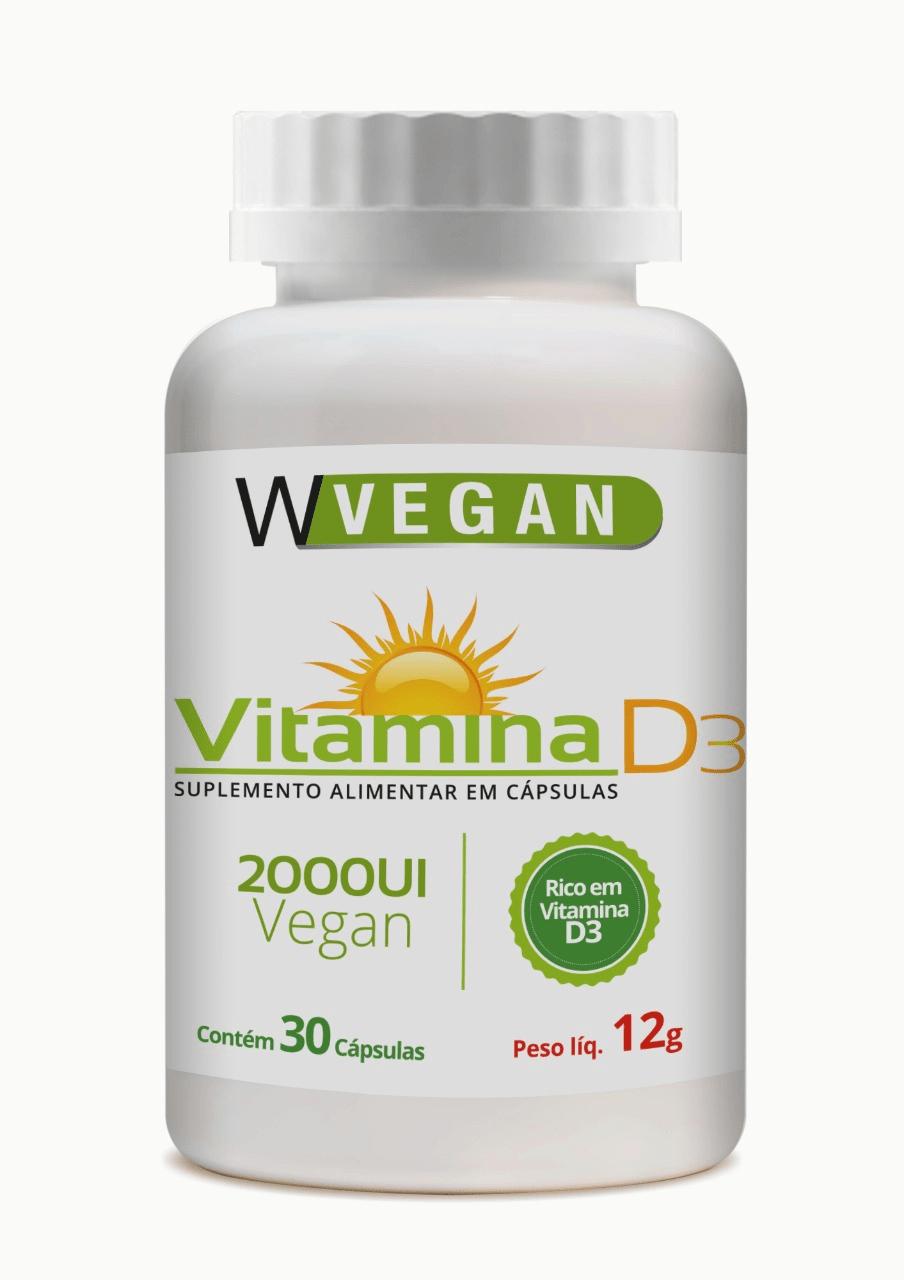 Vitamina D3 2.000UI 30 capsulas WVegan
